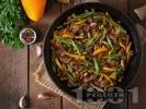 Рецепта Свински бут на тиган със соев сос и зеленчуци